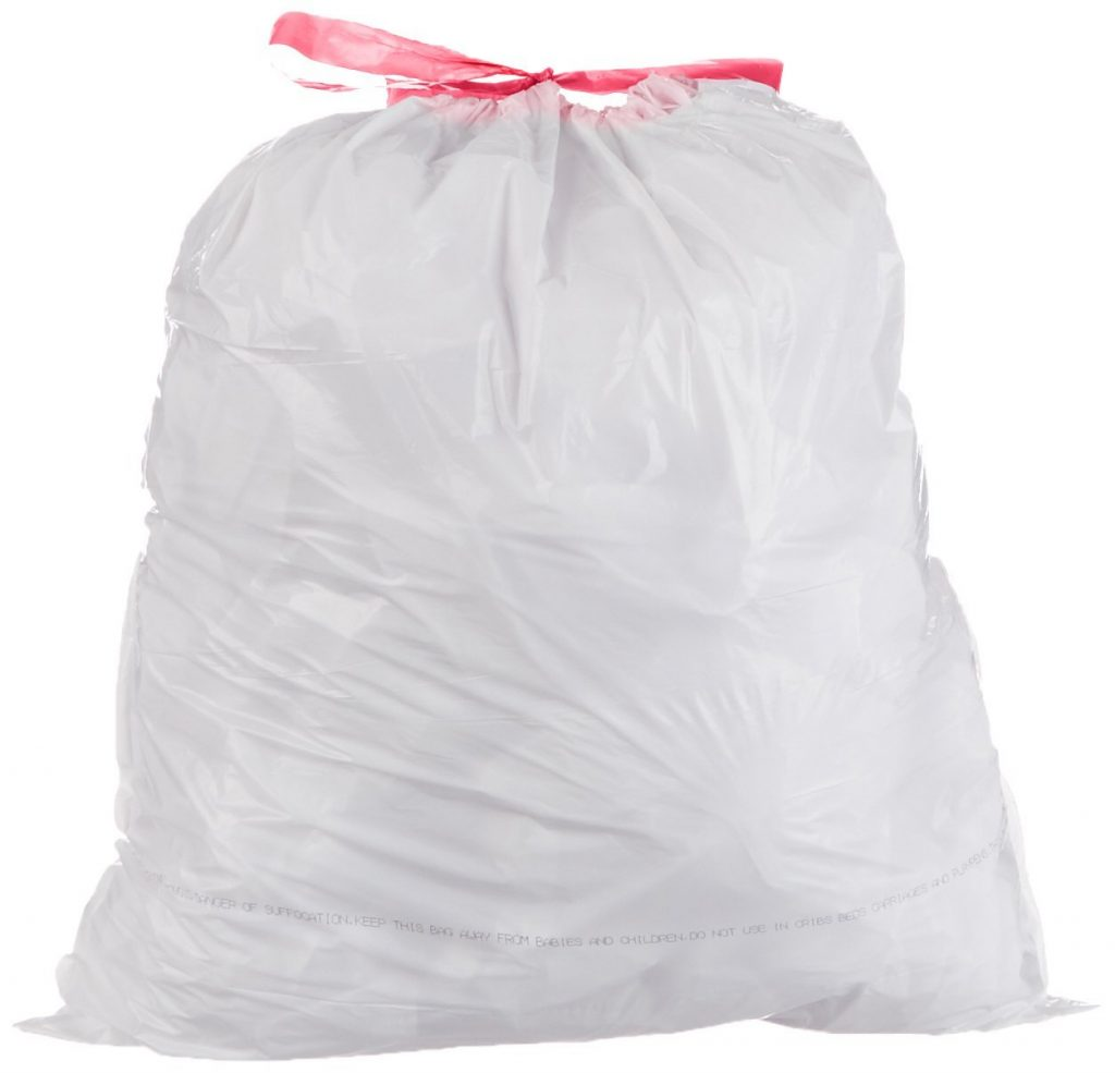 amazon 300 count amazonbasics 12 16 gallon tall kitchen trash bags with draw string only 10 ish per bag - Tall Kitchen Trash Bags