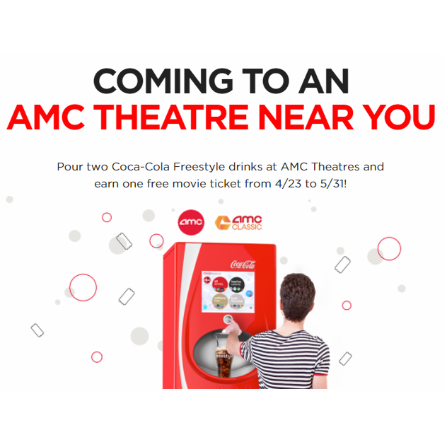 FREE AMC Movie Ticket With 2 Drink Purchases
