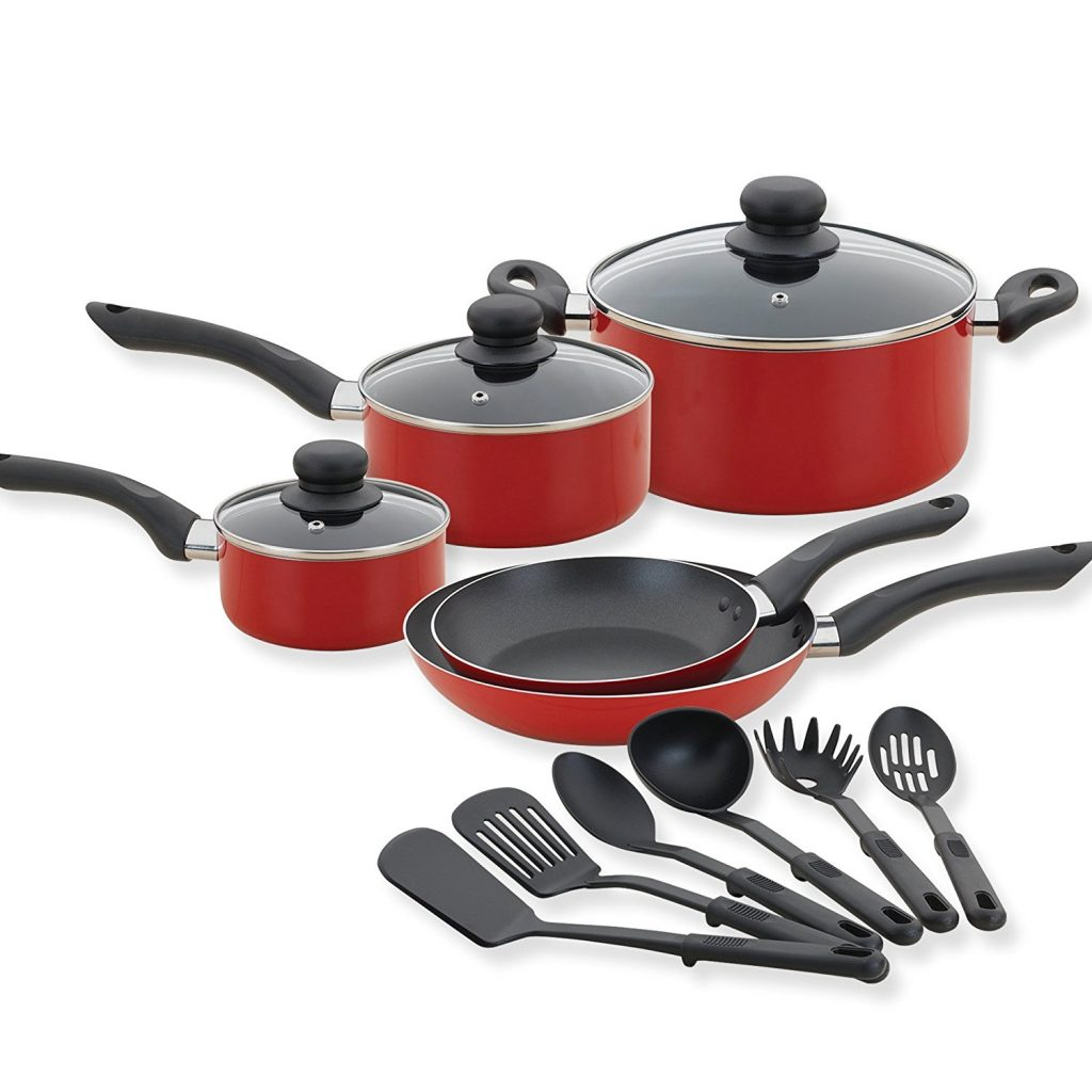 Amazon Lowest Price Betty Crocker 14 Piece Cookware Set Kitchen