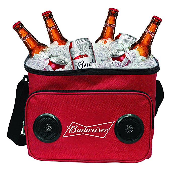 Budweiser or Bud Light Soft Cooler Bag with Built in Bluetooth