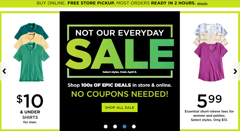 Kohls First Ever Epic Sale No Coupon Codes Needed