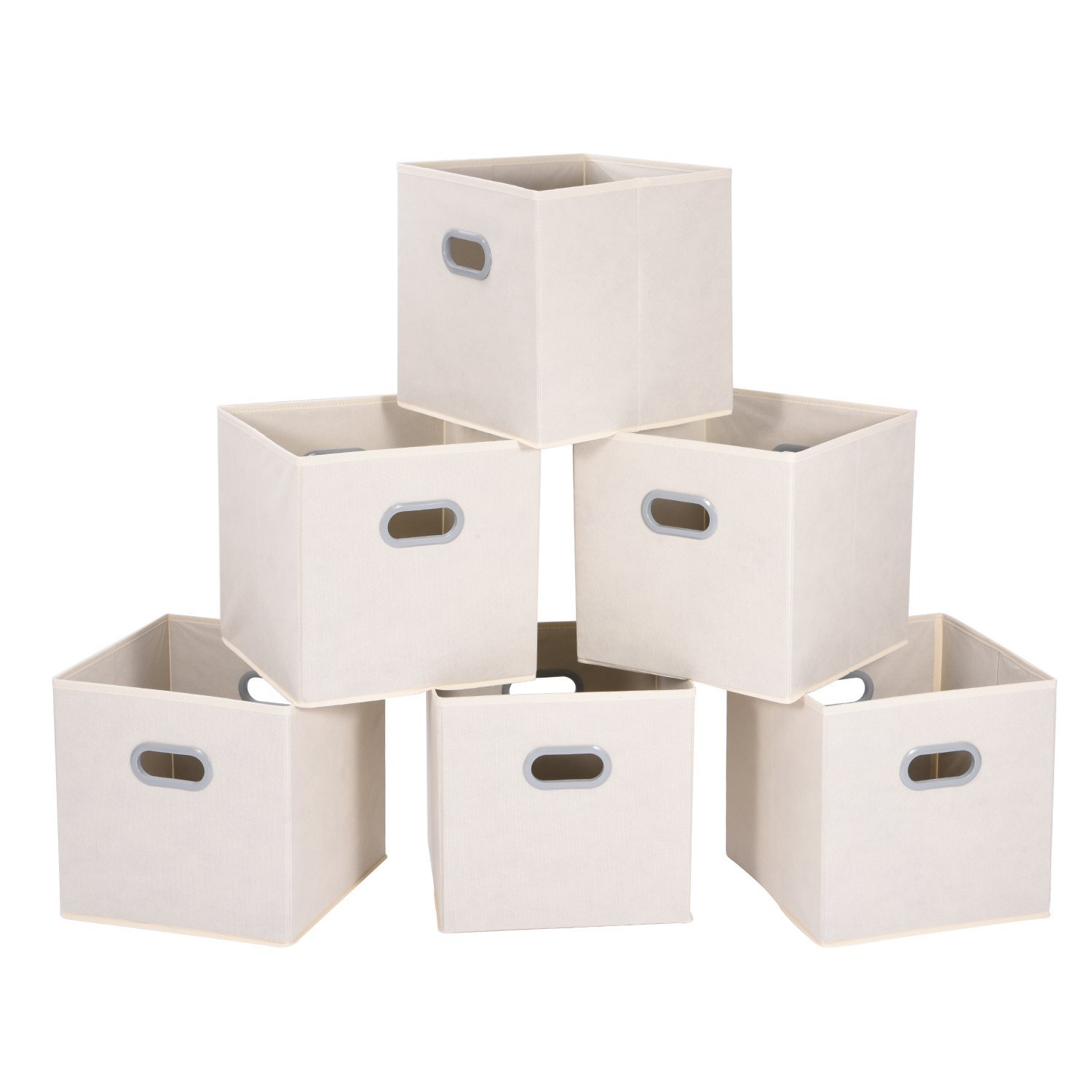 Amazon: Set Of 6 MaidMAX Foldable Cloth Storage Cubes Bins $10.99 After  Coupon Code