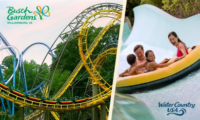 busch gardens and water country - Busch Gardens And Water Country Usa Season Passes