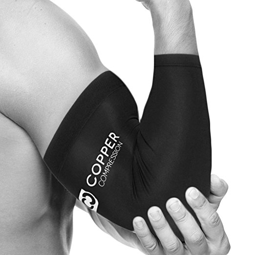 f3bd3dd76a Amazon Lowest Price: Copper Compression Recovery Knee Sleeve or Copper  Compression Recovery Elbow Sleeve