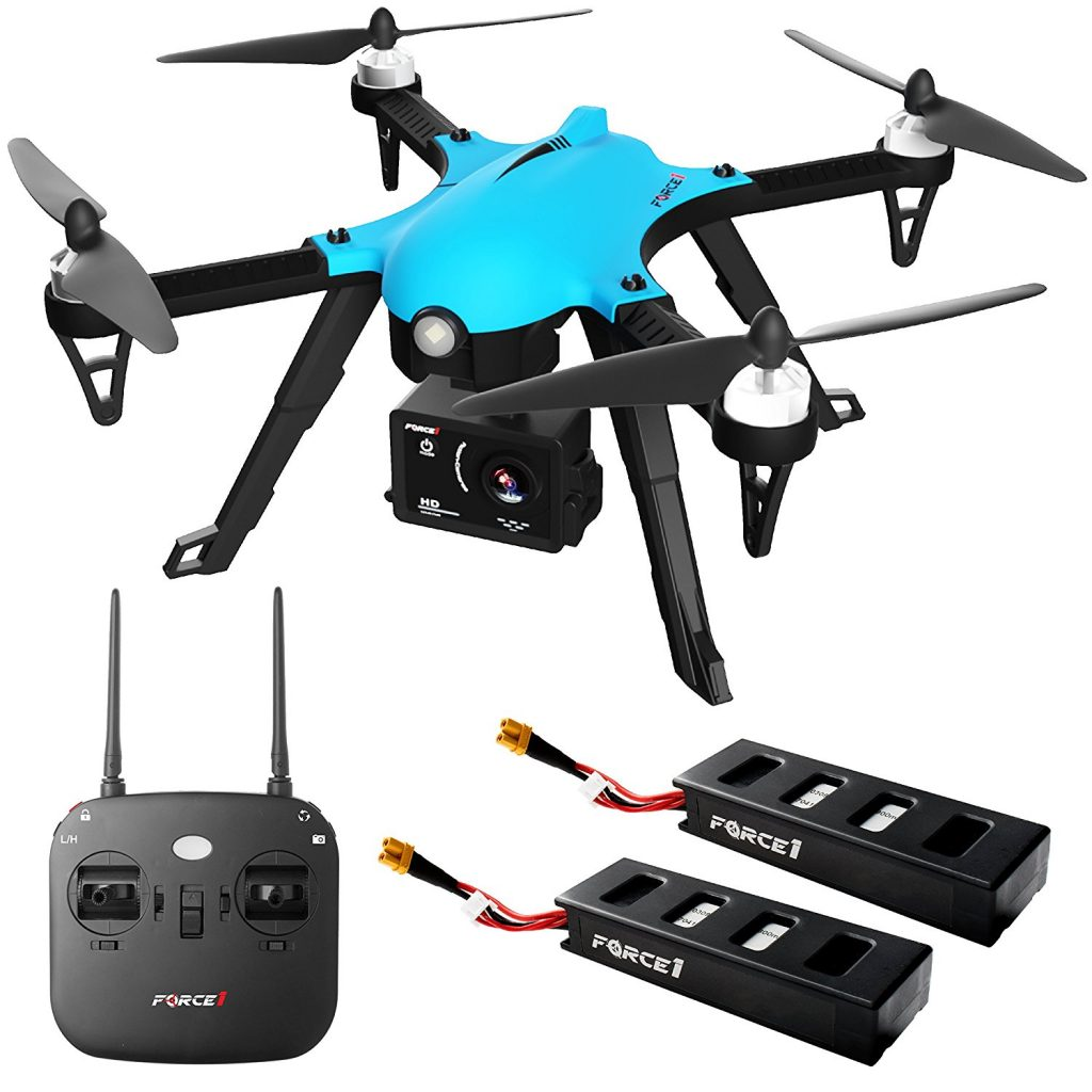 Right Now On Amazon You Can Grab This Force1 F100 Ghost Drone With Camera Compatible Go Pro Brushless Motors And 2 Batteries Shells