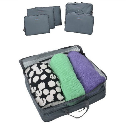 ecd81a3386c0 Amazon: 5 Piece Travel Organizers, Grey $5.99 After Coupon Code (Reg ...