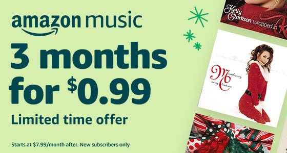 Amazon Music Unlimited 3 Months For Just 99
