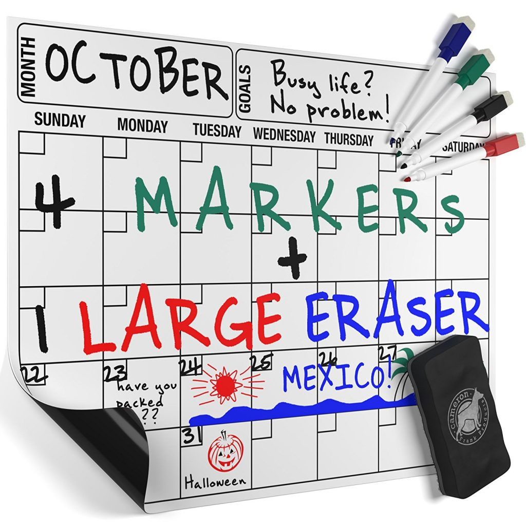 amazon magnetic dry erase calendar board 9 97 after coupon