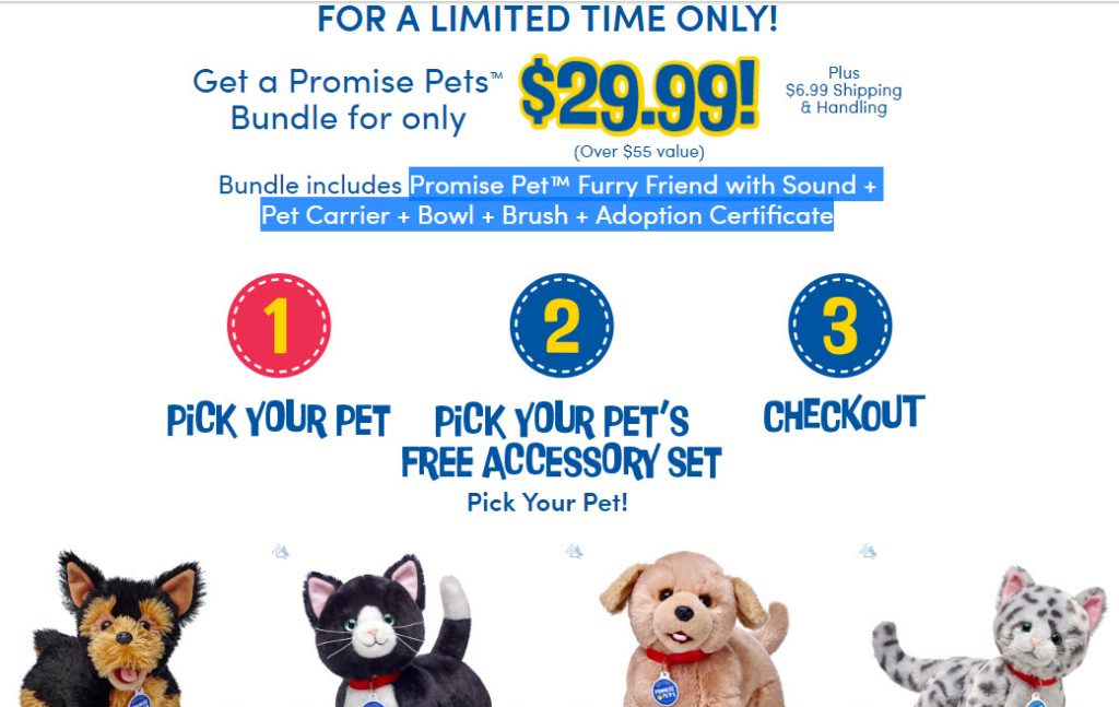 Build A Bear As Seen On Tv 2999 For Promise Pet Furry Friend