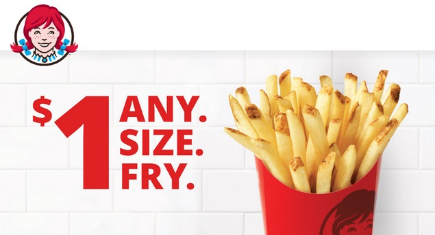 Wendy S Any Size Order Of Fries 1