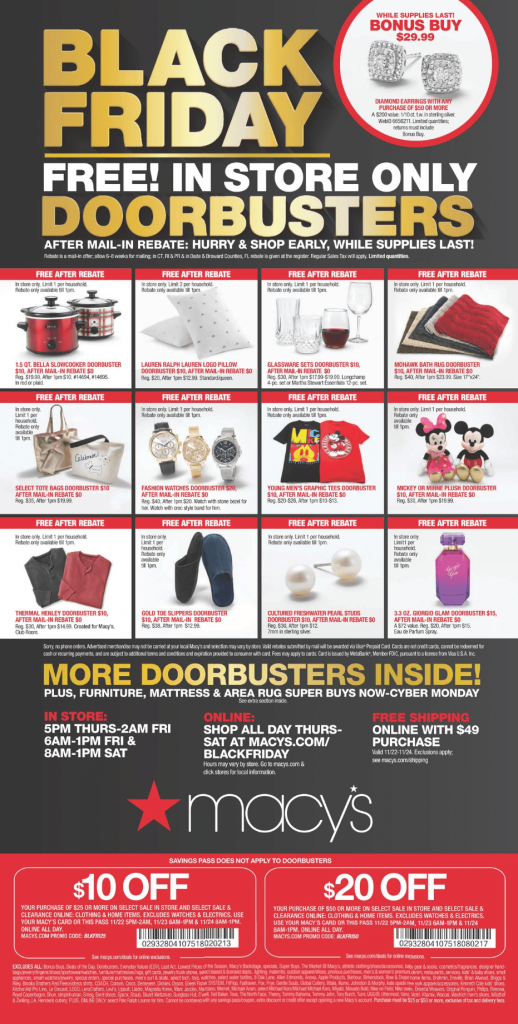 The FREE Stuff In The Macy's Black Friday Ad