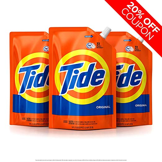 Buy Here Pay Here Orlando >> Amazon: 3 Pack of Tide Liquid Laundry Detergent Smart Pouches Only $14.39 After Coupon
