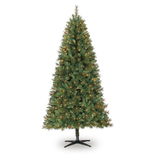 7ft Black Pre Lit Christmas Tree: Highly Rated 7ft. Pre-Lit Willow Pine Artificial Christmas