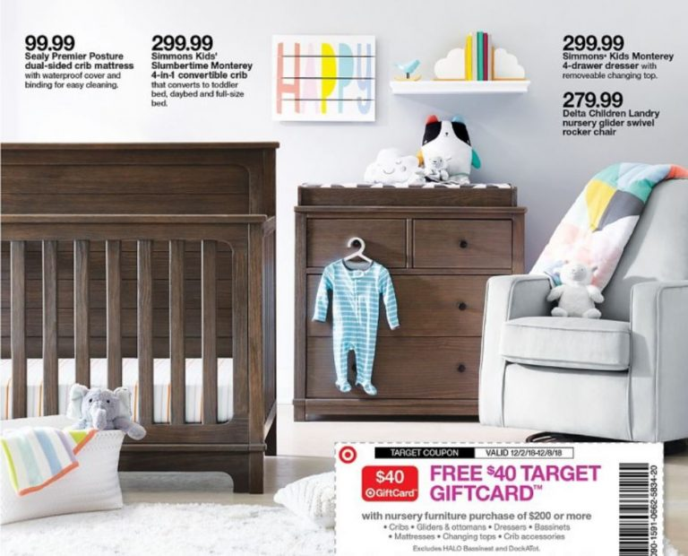 Free 40 Target Gift Card With Nursery Furniture Purchase Of 200 Or