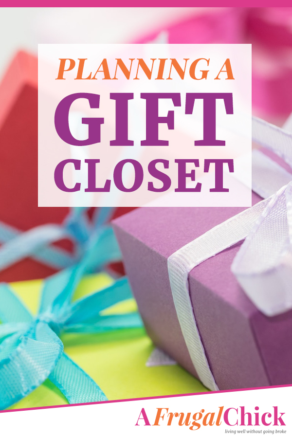 Planning a Gift Closet with items under $20- stock up for parties, anniversaries, birthdays and more without breaking the bank! #gifts #shopping #save #afrugalchick #savemoney #giftcloset #birthday
