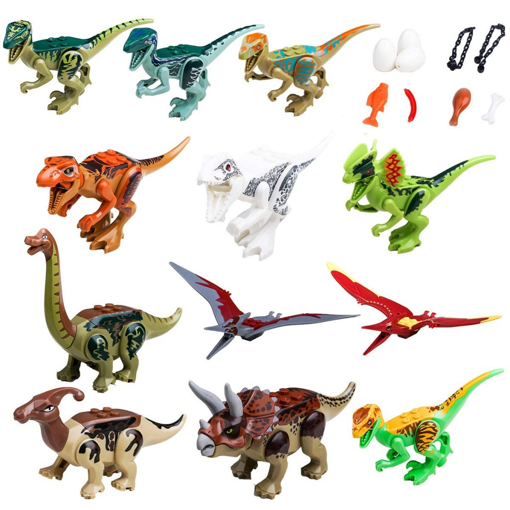 Amazon (LOVE These): Maykid Dinosaurs Set Includes 12 Building