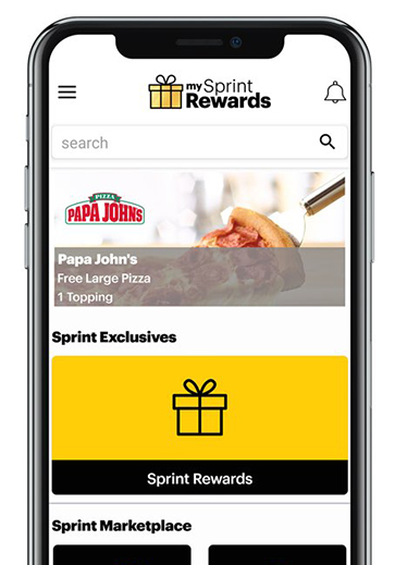 My Sprint Rewards: Free Papa John's Large Pizza With App Download