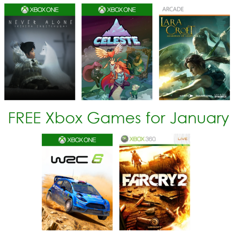 FREE Xbox Games Available for January