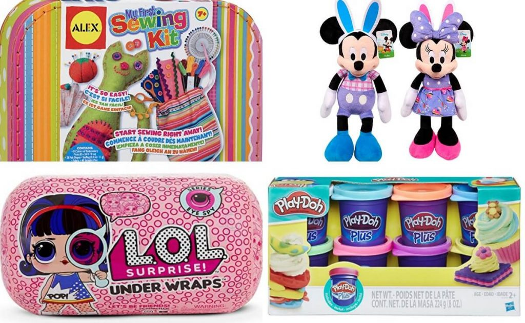 3ea6130b09a Amazon  Make A Toy Purchase of  35+ and Get Disney s Large Easter Mickey Minnie  Plush for  5