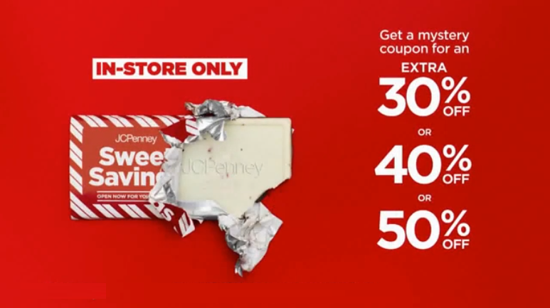 736237dd2 ... head into your local participating JCPenney store where they will be  handing out FREE Sweet Sale Chocolate Bars with a coupon inside valid for  30%