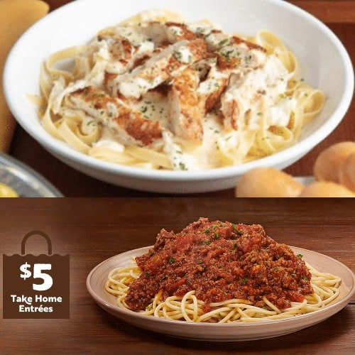 Olive Garden Buy One Entree Take One Home For 5