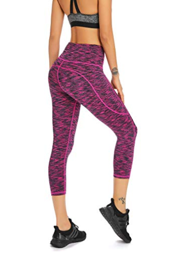 c6002e2866d48 Amazon: Save Extra 32% On These Womens High Waisted Yoga Capri Workout  Leggings With Coupon Code