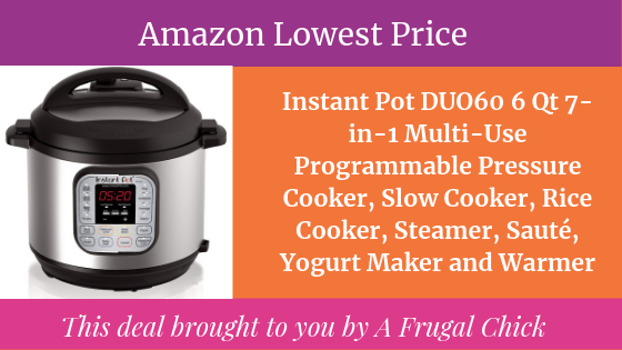 Amazon Black Friday Now Instant Pot Duo60 6 Qt 7 In 1 Multi