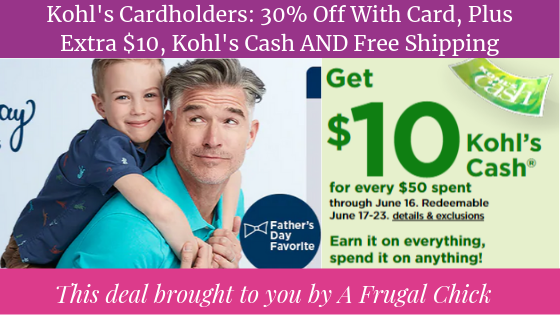 6625fa83478c3 Kohl's Cardholders: 30% Off With Card, Plus Extra $10 Off, Kohl's Cash AND  Free Shipping