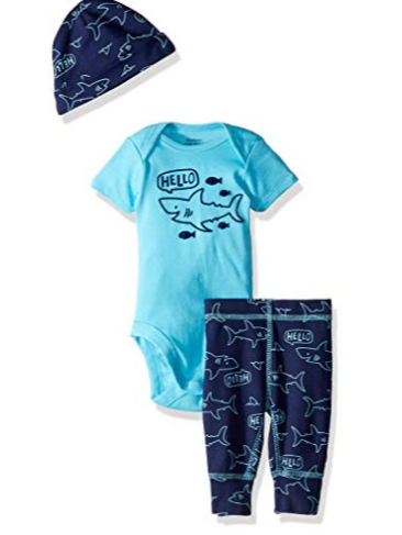 Pant and Cap Set GERBER Baby Boys 3-Piece Bodysuit