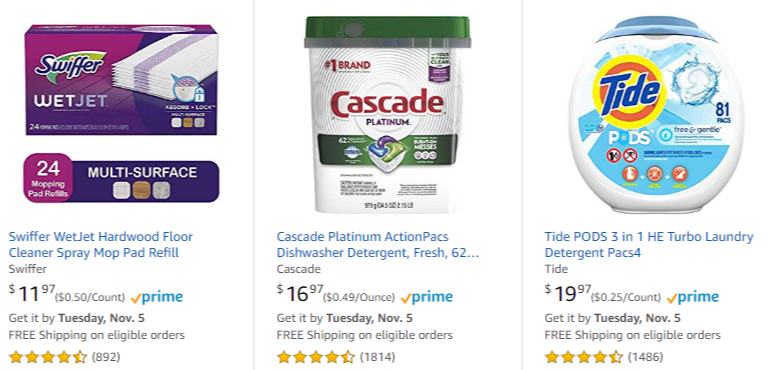 Amazon: Save $10 When You Buy 3 Household Items