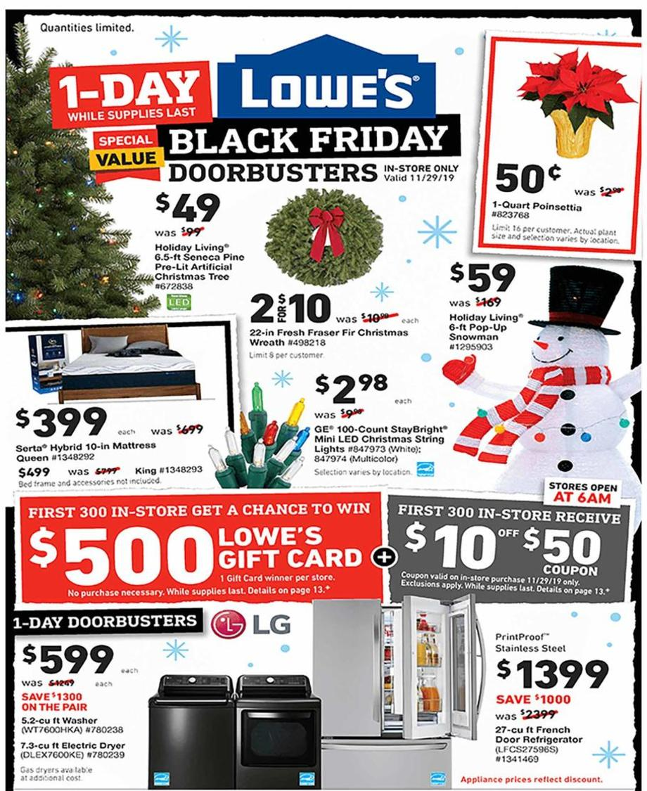 Lowe S 2019 Black Friday Ad Full Ad Scan