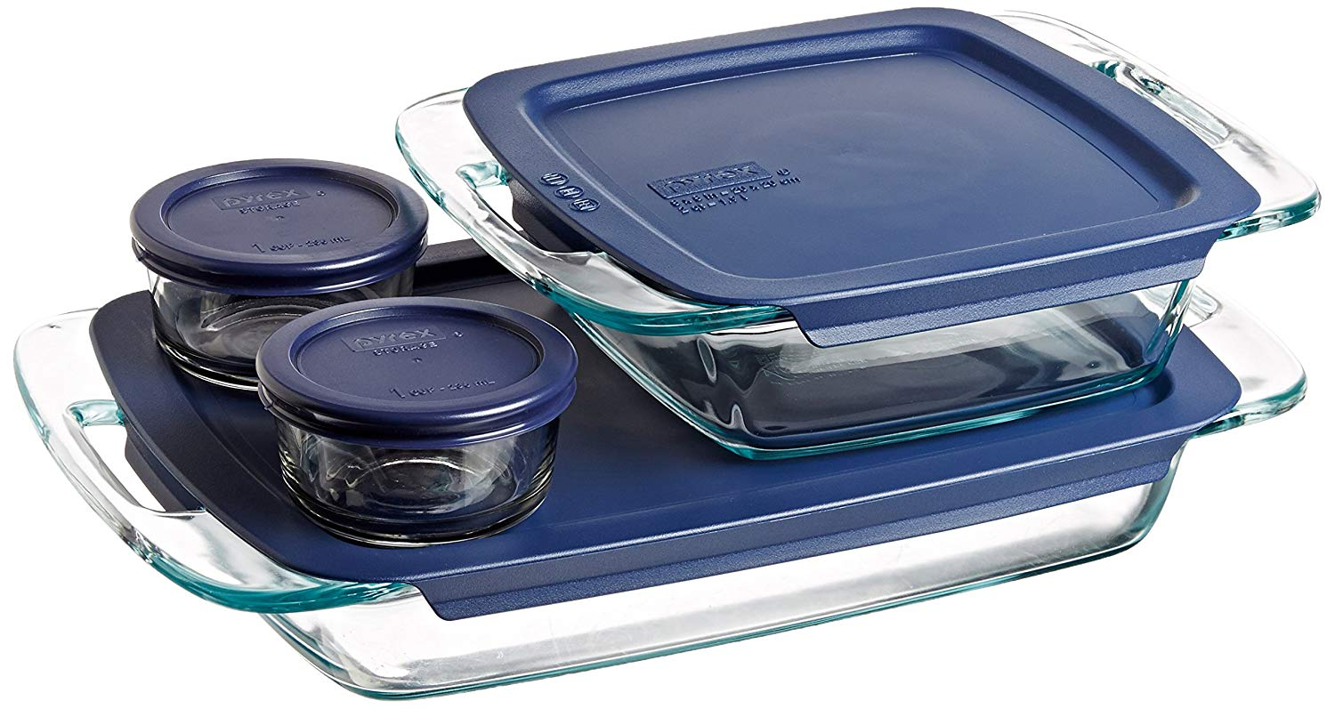 Amazon Lowest Price Pyrex Easy Grab Glass Bakeware And Food Storage Set 8 Piece Clear