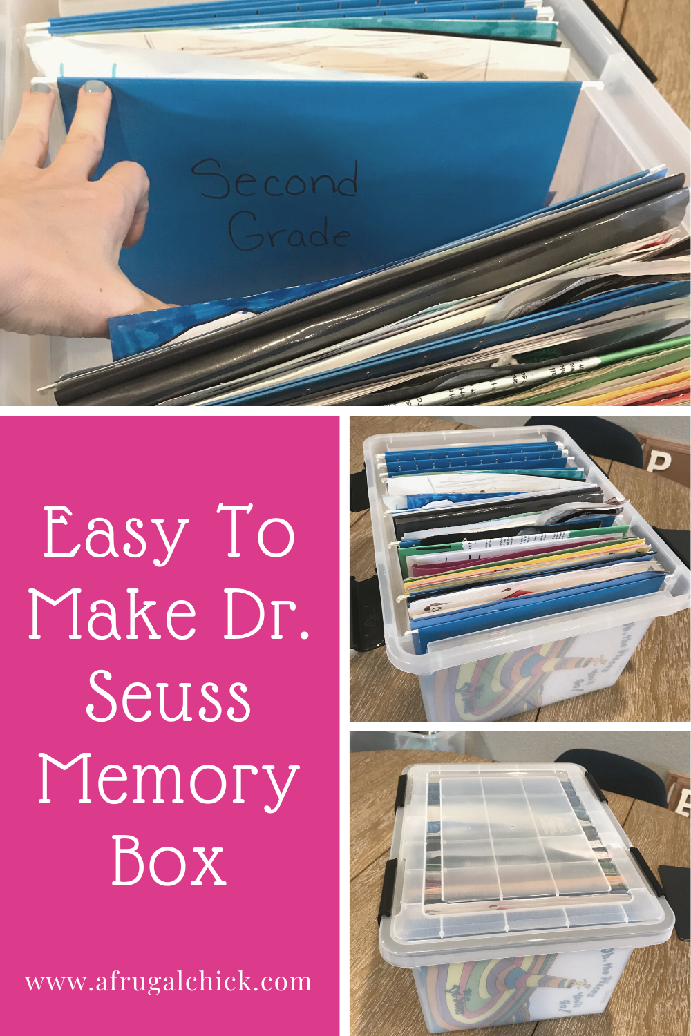 Easy To Make Dr. Seuss Memory Box- In a few easy steps you can create a memory box to give your child at high school graduation!