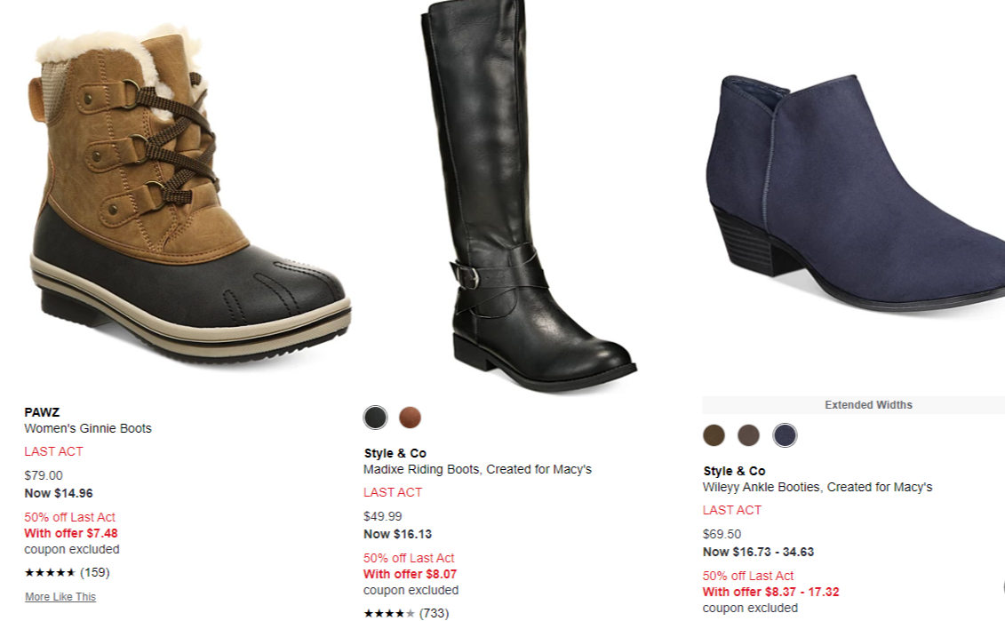 Up To An Extra 50% Off Clearance Shoes