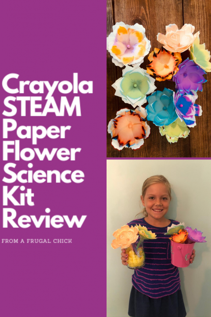 Crayola STEAM Paper Flower Science Kit Review- If you are considering the Crayola Paper Flower Science Kit check out this review before you purchase!