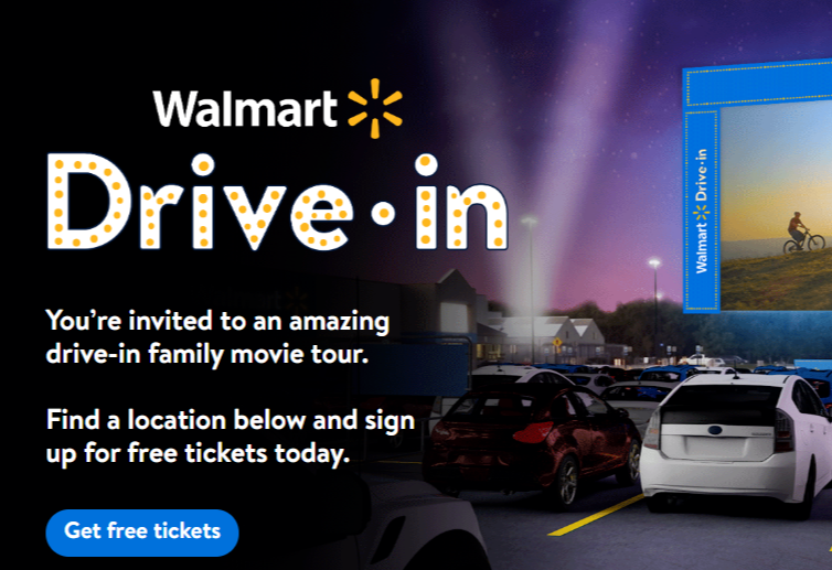Reserve Your Spot At The Local Walmart Drive In Theater
