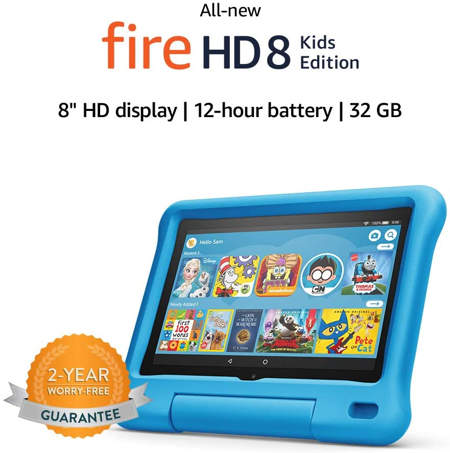Amazon Prime Deal All New Fire Hd 8 Kids Edition Tablet 8 Hd Display 32 Gb Blue Kid Proof Case