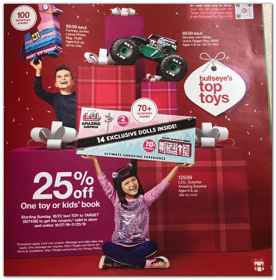 Target S 2020 Holiday Toy Catalog Is In The Mail Includes Free 5 Gift Card Coupon