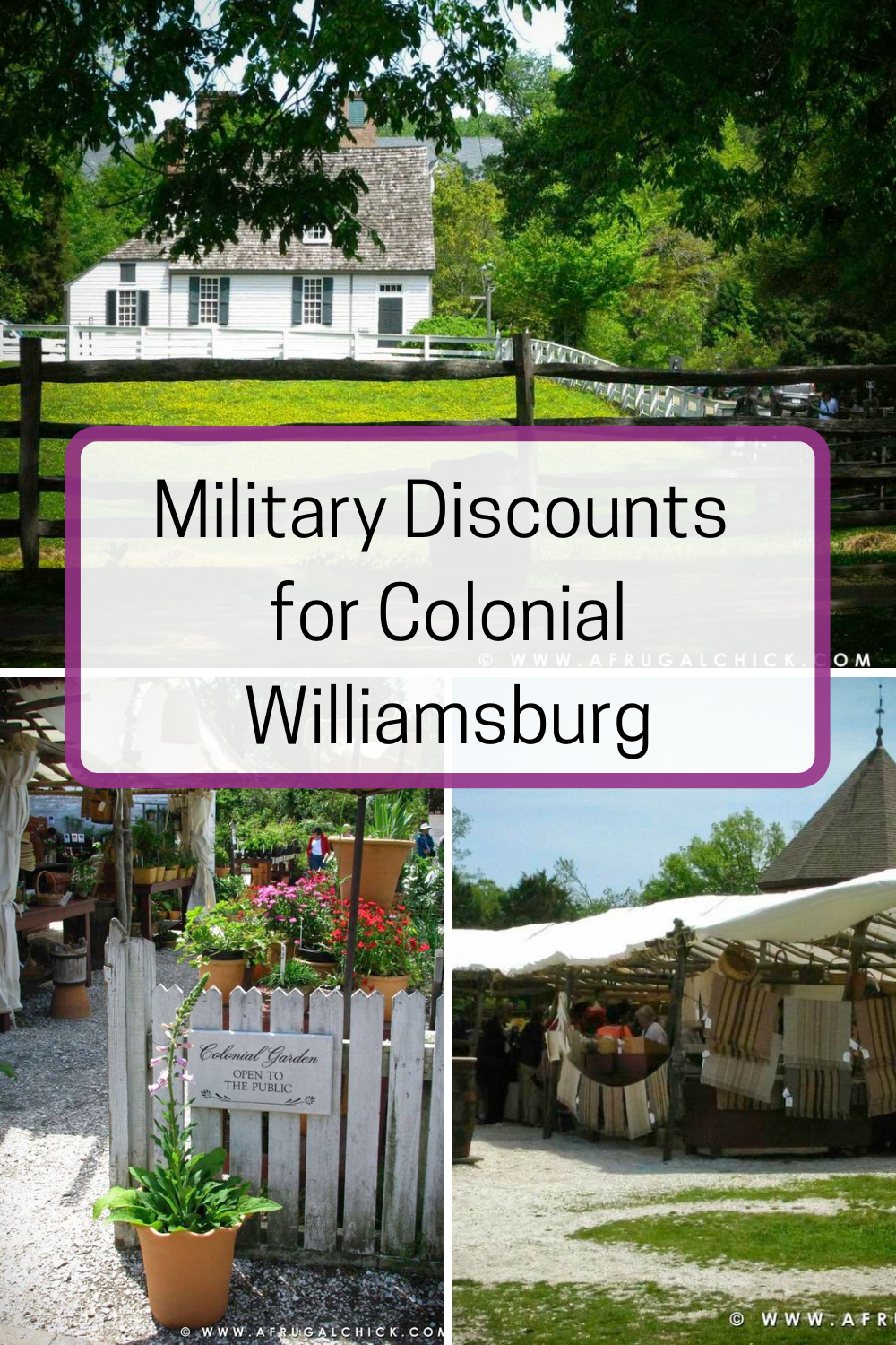 Military Discounts Colonial Williamsburg- Active Duty Military, Reservists, National Guard Personnel, Retired and Veterans are all eligible!