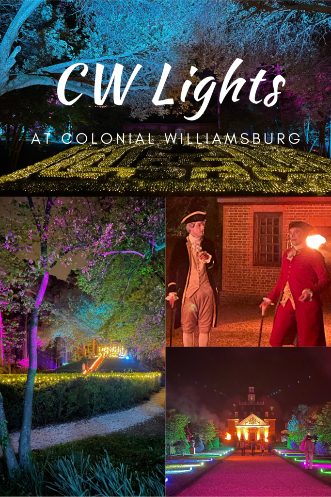 CW Lights at Colonial Williamsburg- If you are considering attending CW Lights at Colonial Williamsburg check out all you need to know!